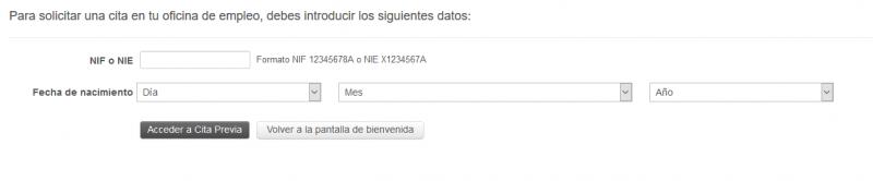 Paso 2 - Cita SAE - Servicio Andaluz de Empleo